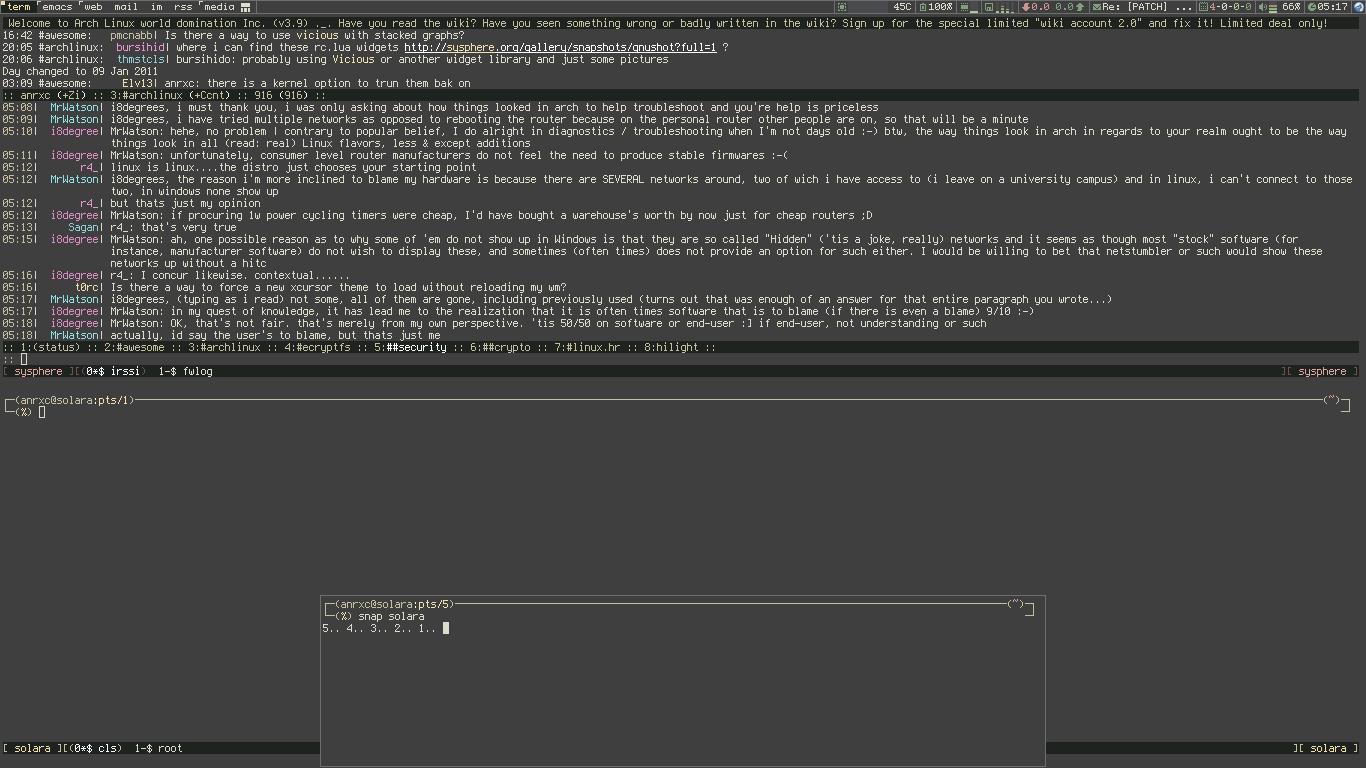 [solara] awesome 3.4.8 zenburn